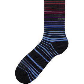 Shimano Original Tall Socks, pink/blue stripe